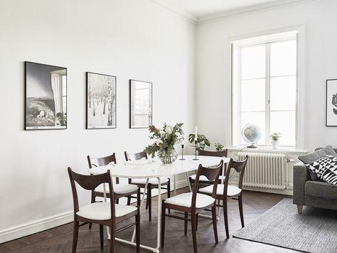 paredes blancas maderas oscuras decoración estilo nórdico decoración - decoracion con madera en paredes
