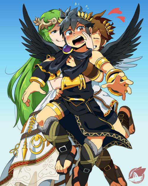 Kid Icarus Uprising Palutena Pit And Dark