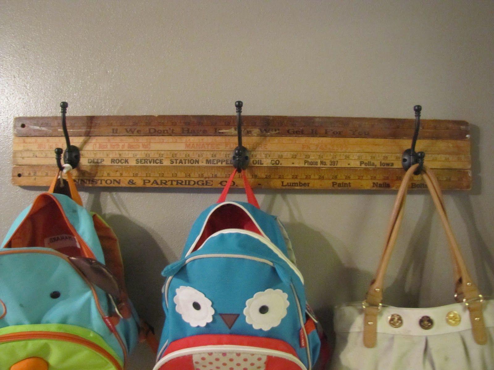 Yardstick coat hanger