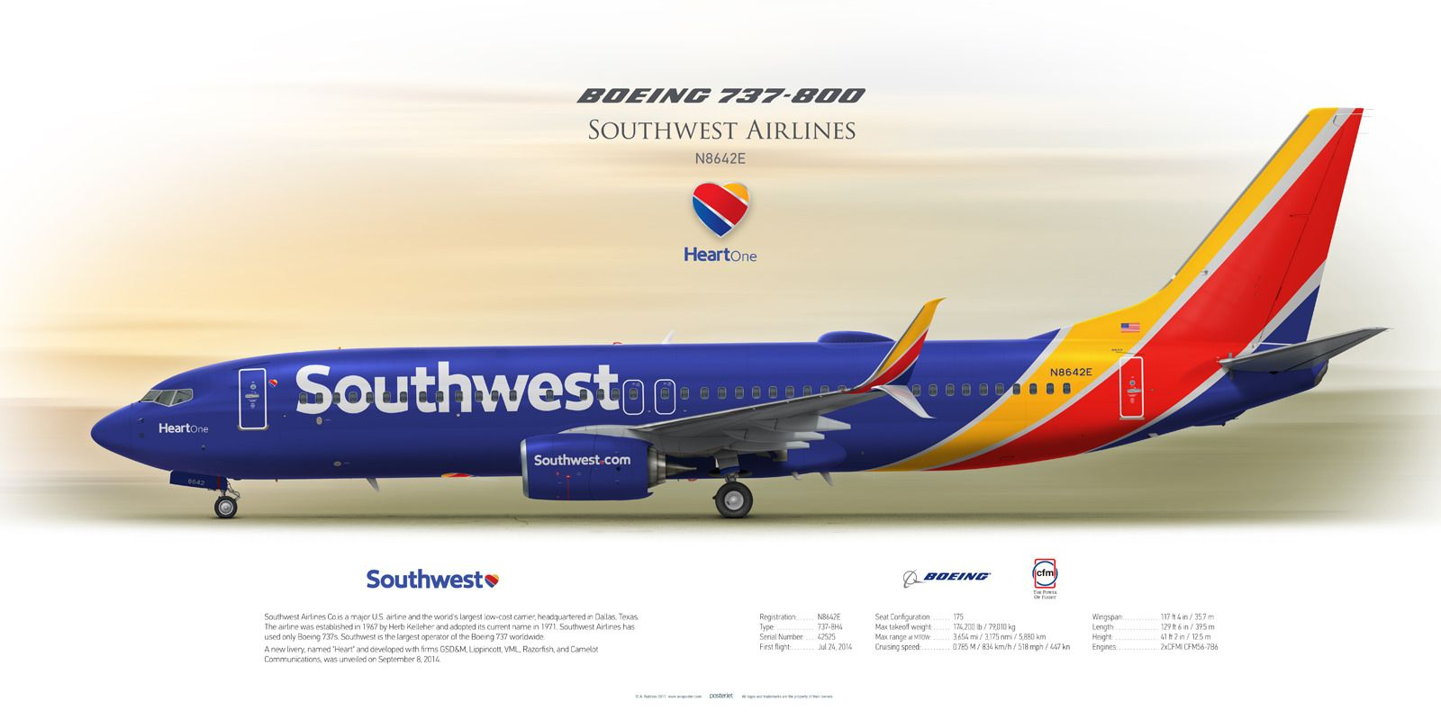 Boeing 737 800 Southwest Airlines Airline Logo Commercial Aircraft Southwest Airlines
