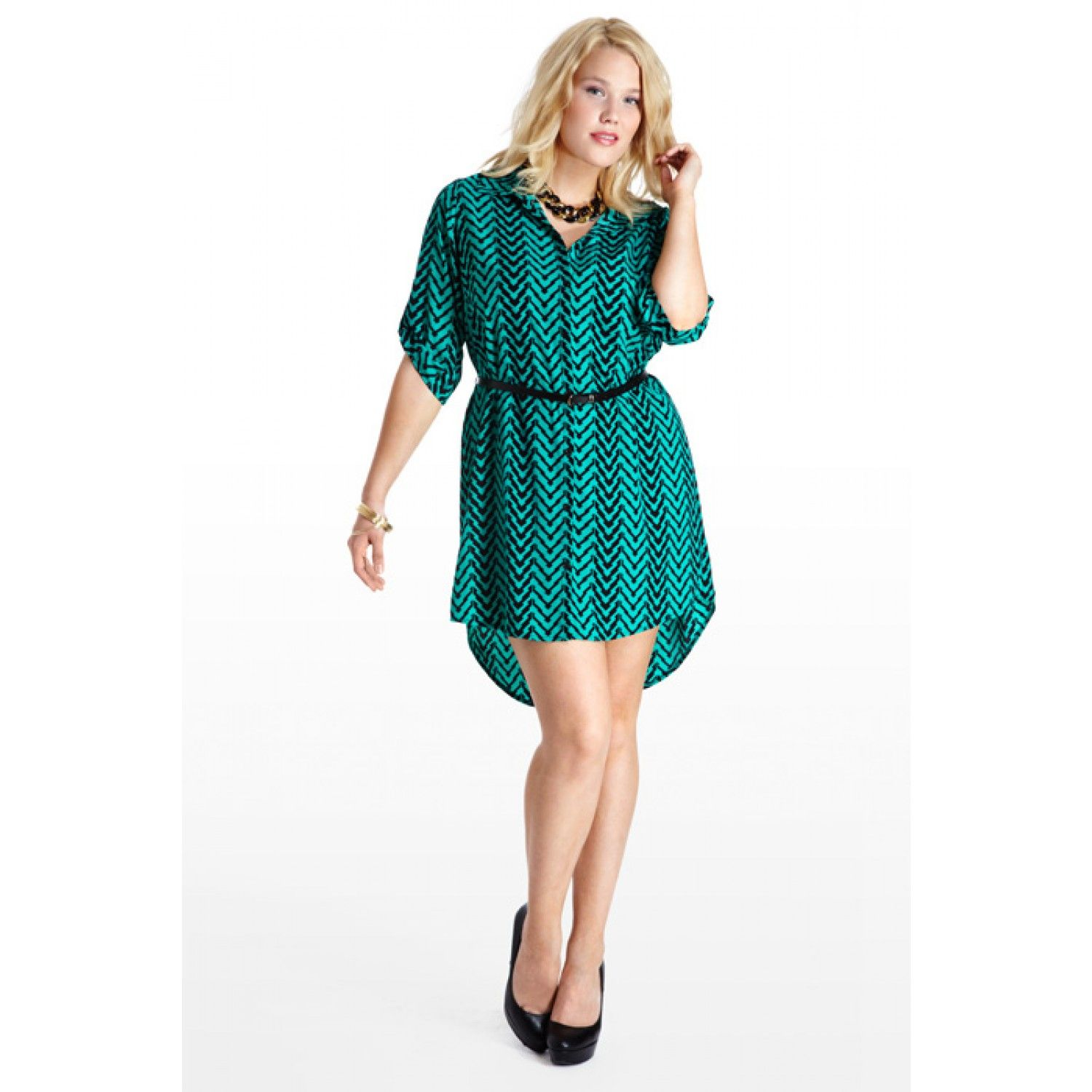 Steel Trap Shirt Dress All Categories Plus Size Fashion