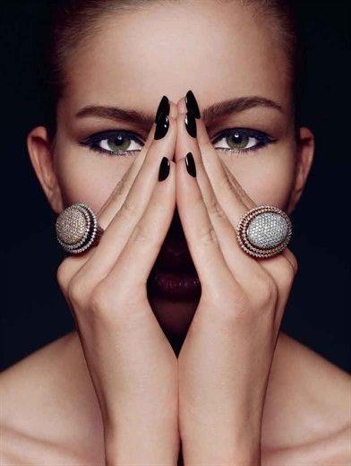 Chic #Manicure in black  - Beauty Works London