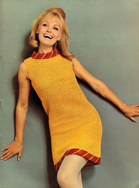 spinnerin_vol183_topaz yellow knit dress HOLY CUTENESS OAIR THIS WITH UPDATED  BOOTIES ...COULD BE FUN.