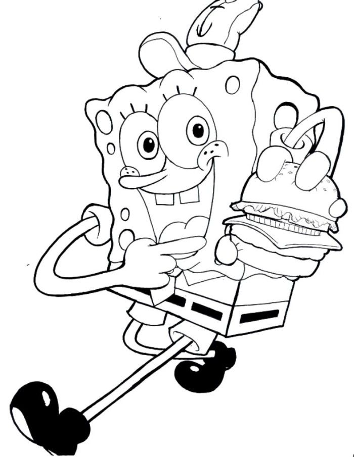 free spongebob coloring pages for kids - Free Spongebob Coloring Pages