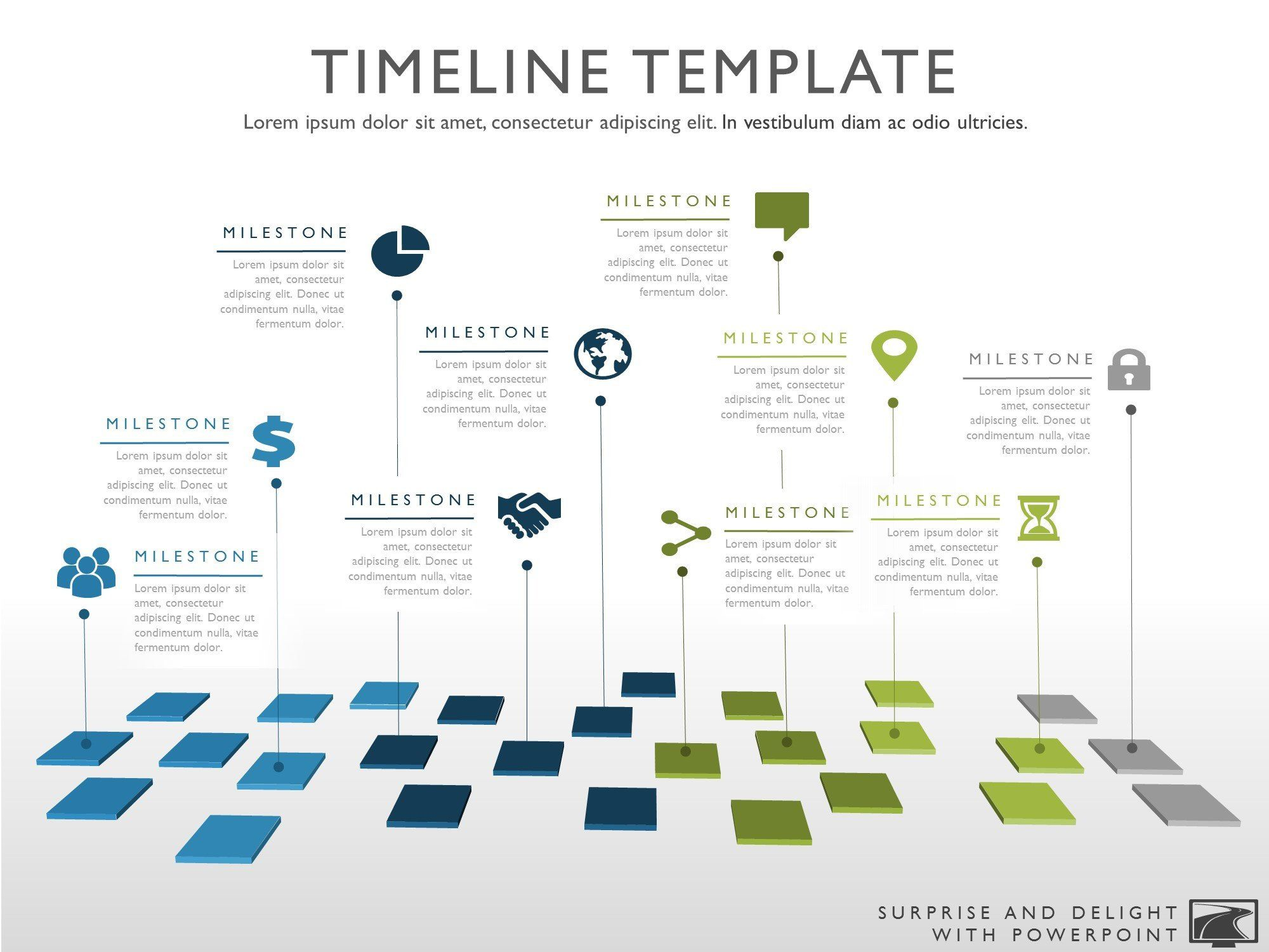 ten phase creative timeline slide design project template in powerpoint