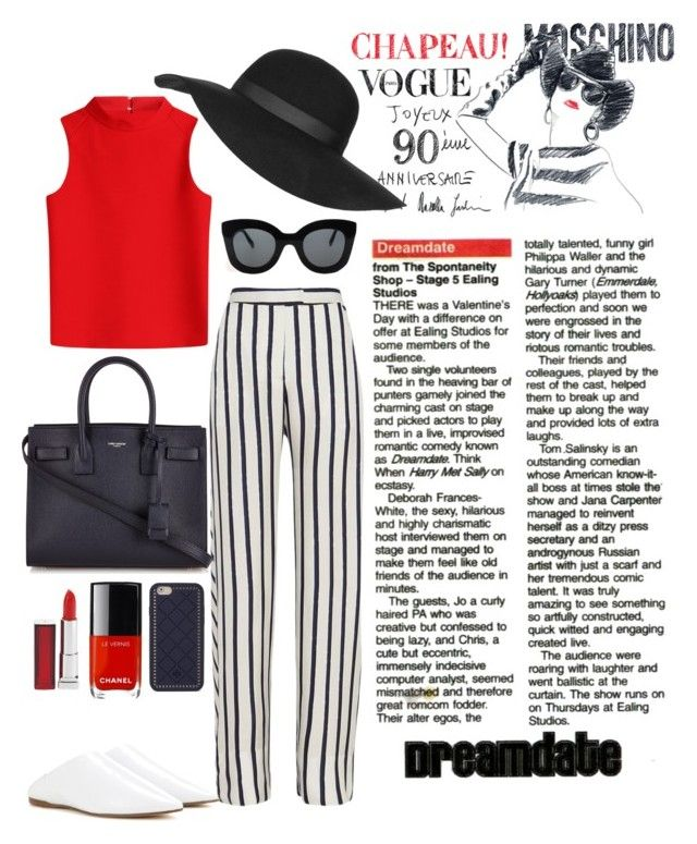 """""""HIGH TOP"""" by marianabaez ❤ liked on Polyvore featuring Nicholas, Moschino, Courrèges, Acne Studios, Yves Saint Laurent, CÉLINE, Topshop, Tory Burch and Maybelline"""