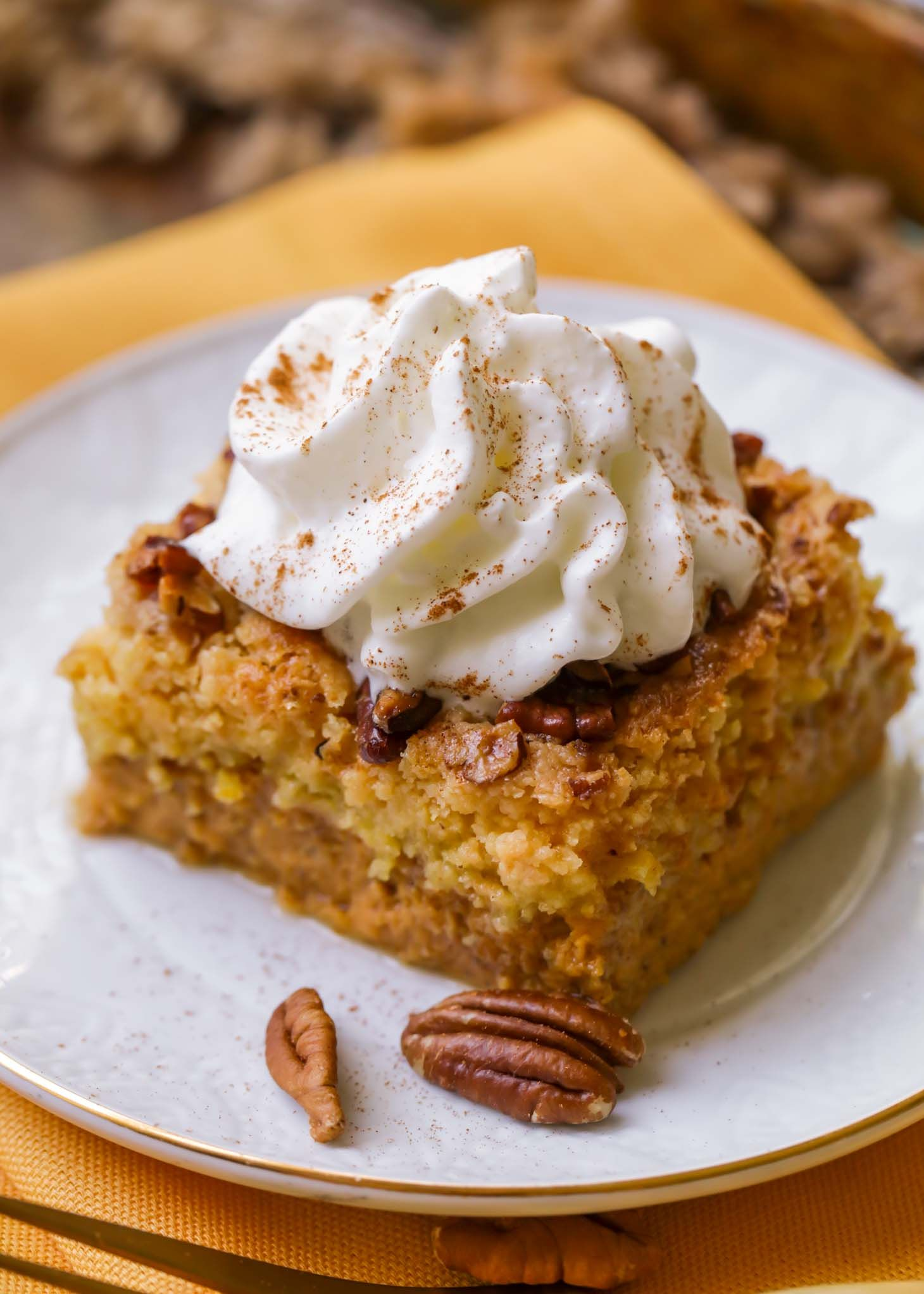 Best Pumpkin Dump Cake Recipe (+VIDEO) | Lil' Luna