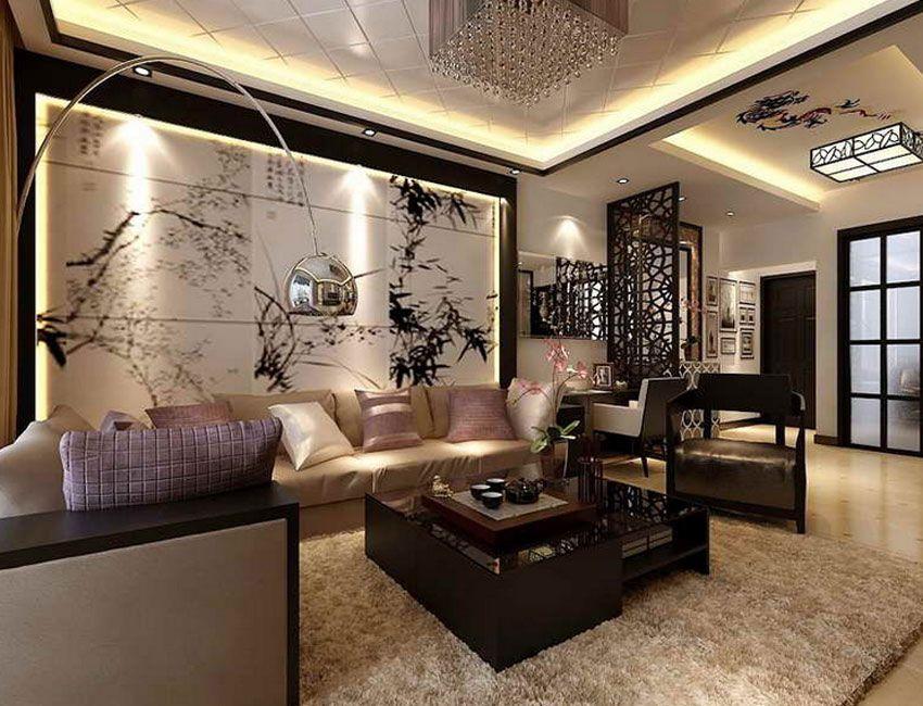Wonderful Asia Style Living Room With Large Wall Decor Ideas For Living Room With  Large Chinese Painting Art (JPEG Kuva, 850 × 650 Kuvapistettä)