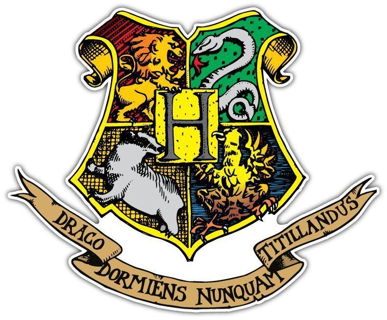 Details about hogwarts harry potter coat of arms car - Hogwarts decal ...