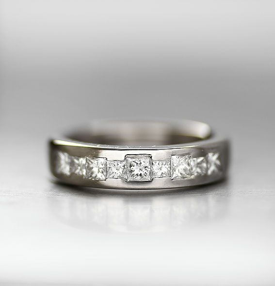 A Redesign From An Old Engagement Ring Alternating Princess Cut
