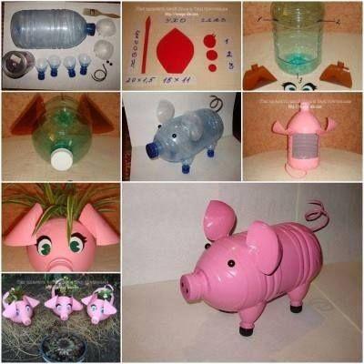 cochon bouteille plastique enfant a creer pinterest bouteille plastique cochons et bouteille. Black Bedroom Furniture Sets. Home Design Ideas