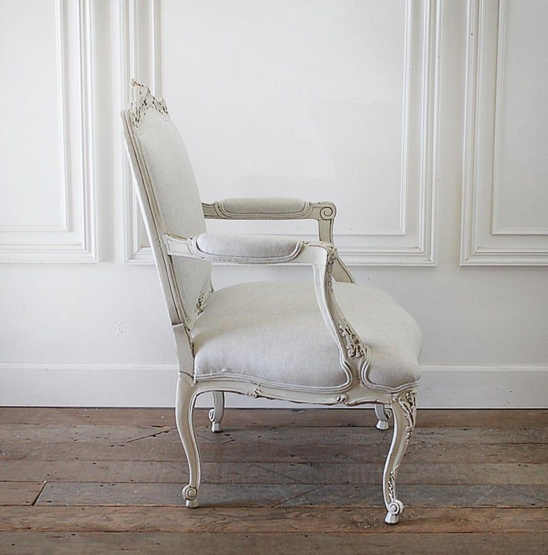 white upholstered chair for sale