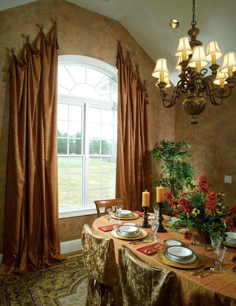 ways to hang curtains carpet table chairs window chandelier ceiling ...