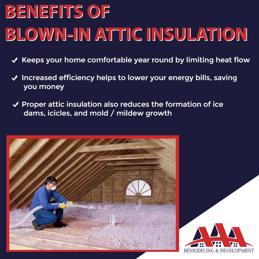 Benefits Of Blown In Attic Insulation Keeps Your Home Comfortable Year Round By Limiting Heat Flow Increased Efficie Attic Insulation Energy Bill Ice Dams