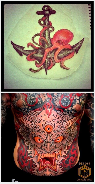 Photo of Anker und Oktopus Tattoo Design / Illustration, #Anker # Designillustration #Octopus #Tattoo …