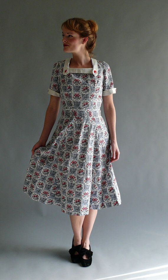 late 1940s dress // Afternoon Pie