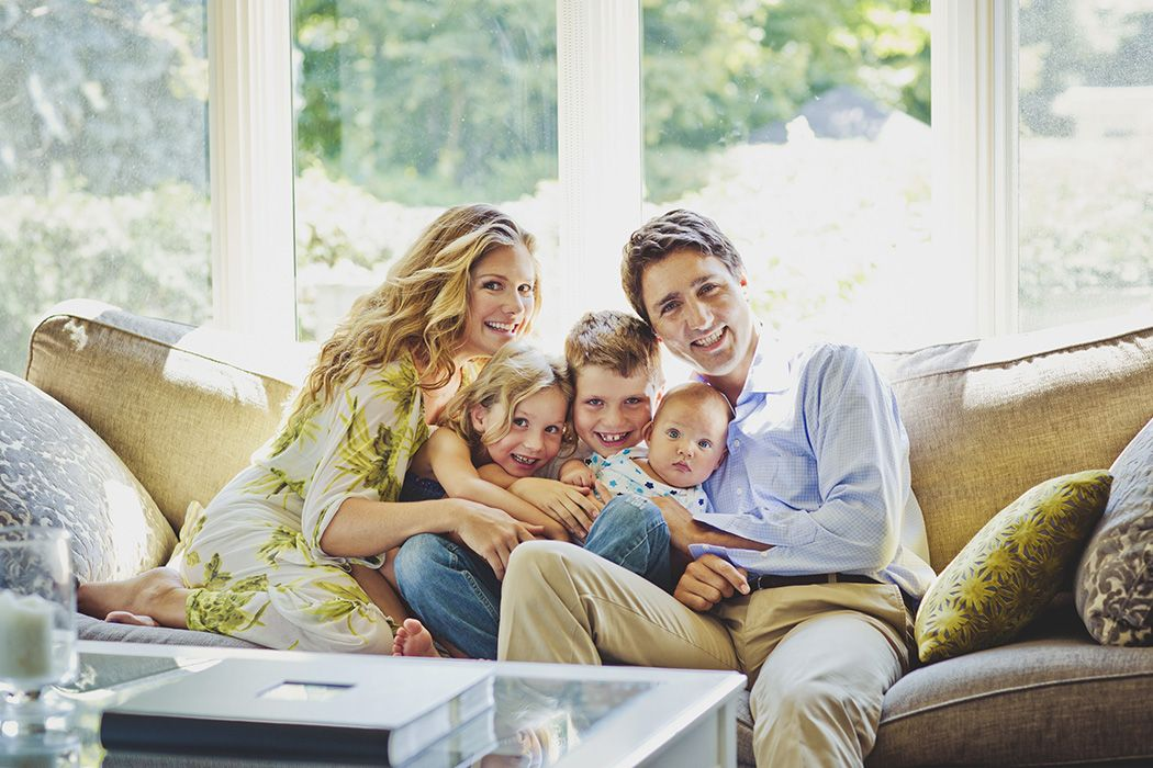 The Trudeaus: The Liberal leader and his family kick back at their ...