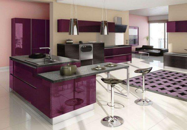 Anteriorsiguiente cocina en color berenjena purple for Cocinas color berenjena