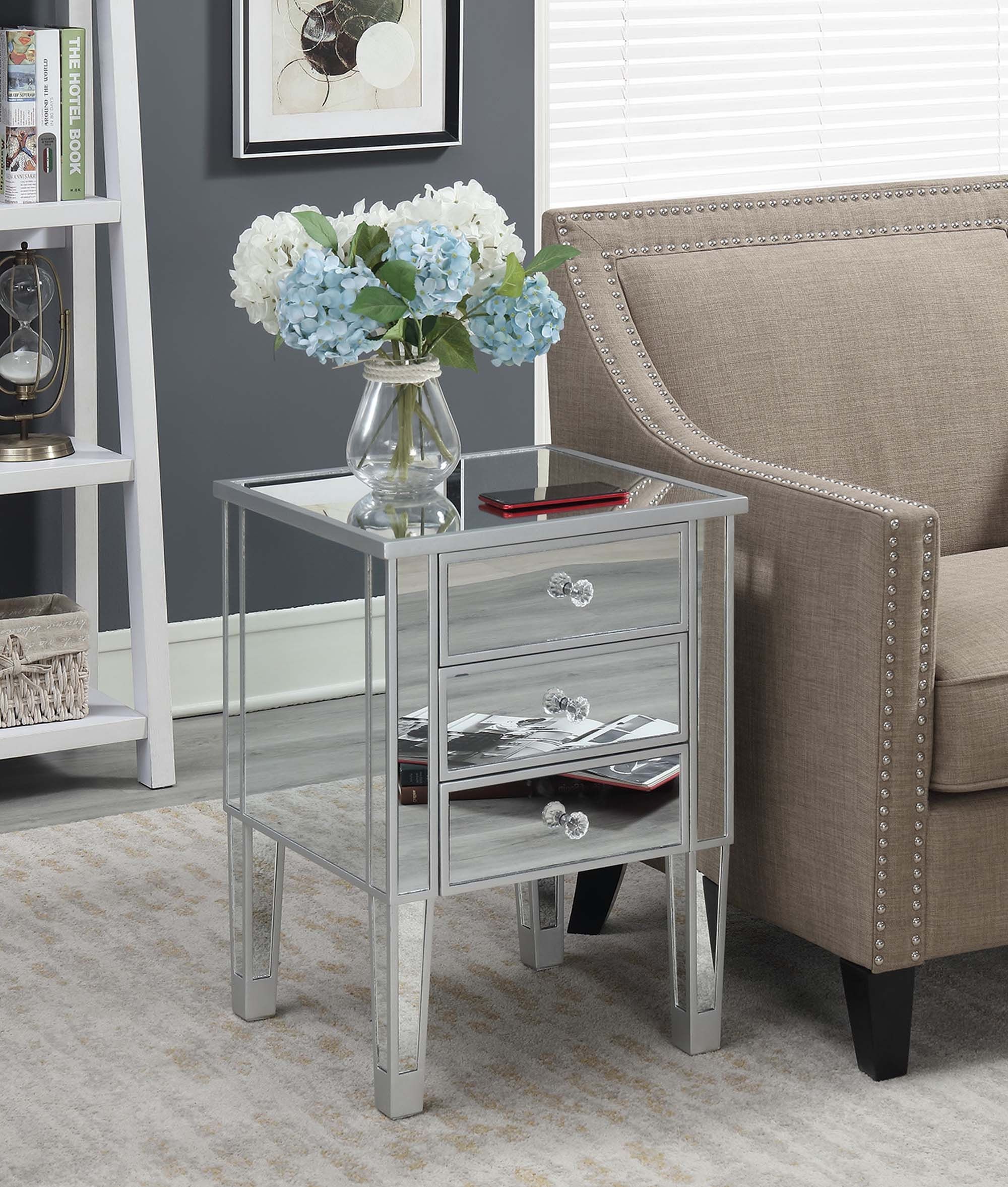 Home In 2020 Mirrored End Table End Tables Convenience Concepts