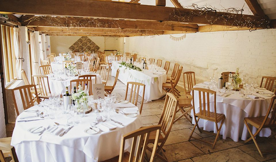 Curradine Barns Set Up For An Intimate Wedding Reception Intimate