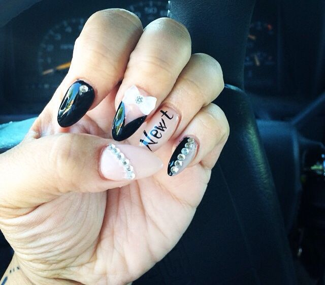 Bf name on nails | 3D nails | Pinterest