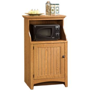 Sauder Gourmet Stand - Oak | Office cabinets, Microwave in ...