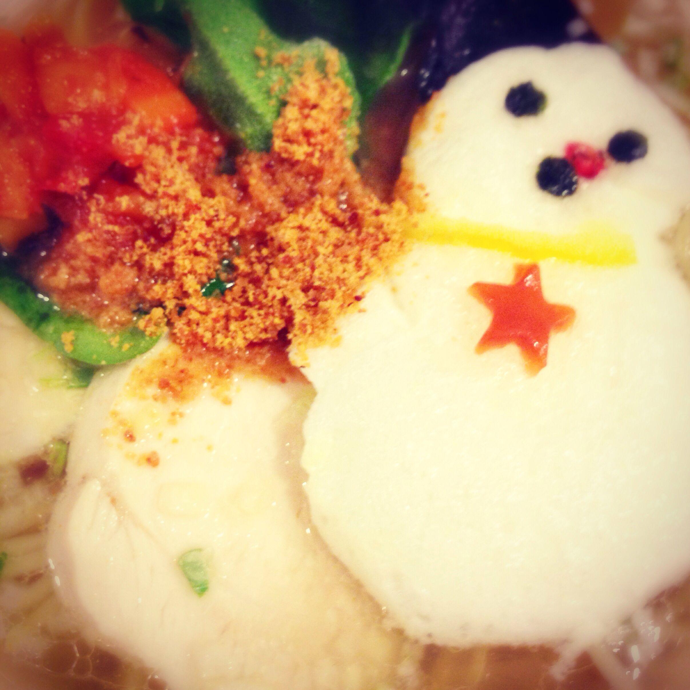 Snowmam on Ramen noodle