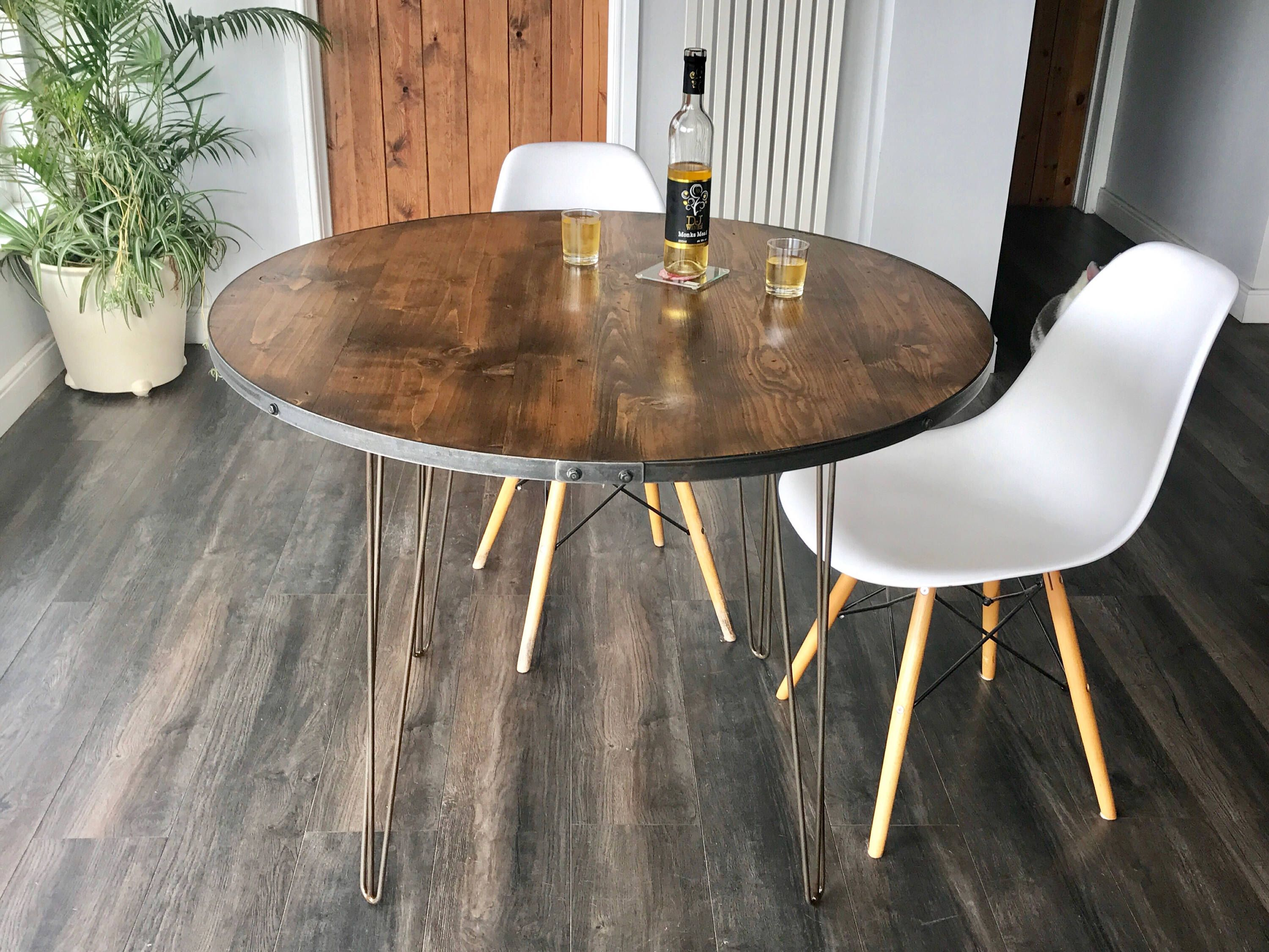 Reclaimed Industrial Style Dining Table Distressed Timber With New Industrial Style Dining Room Tables Review