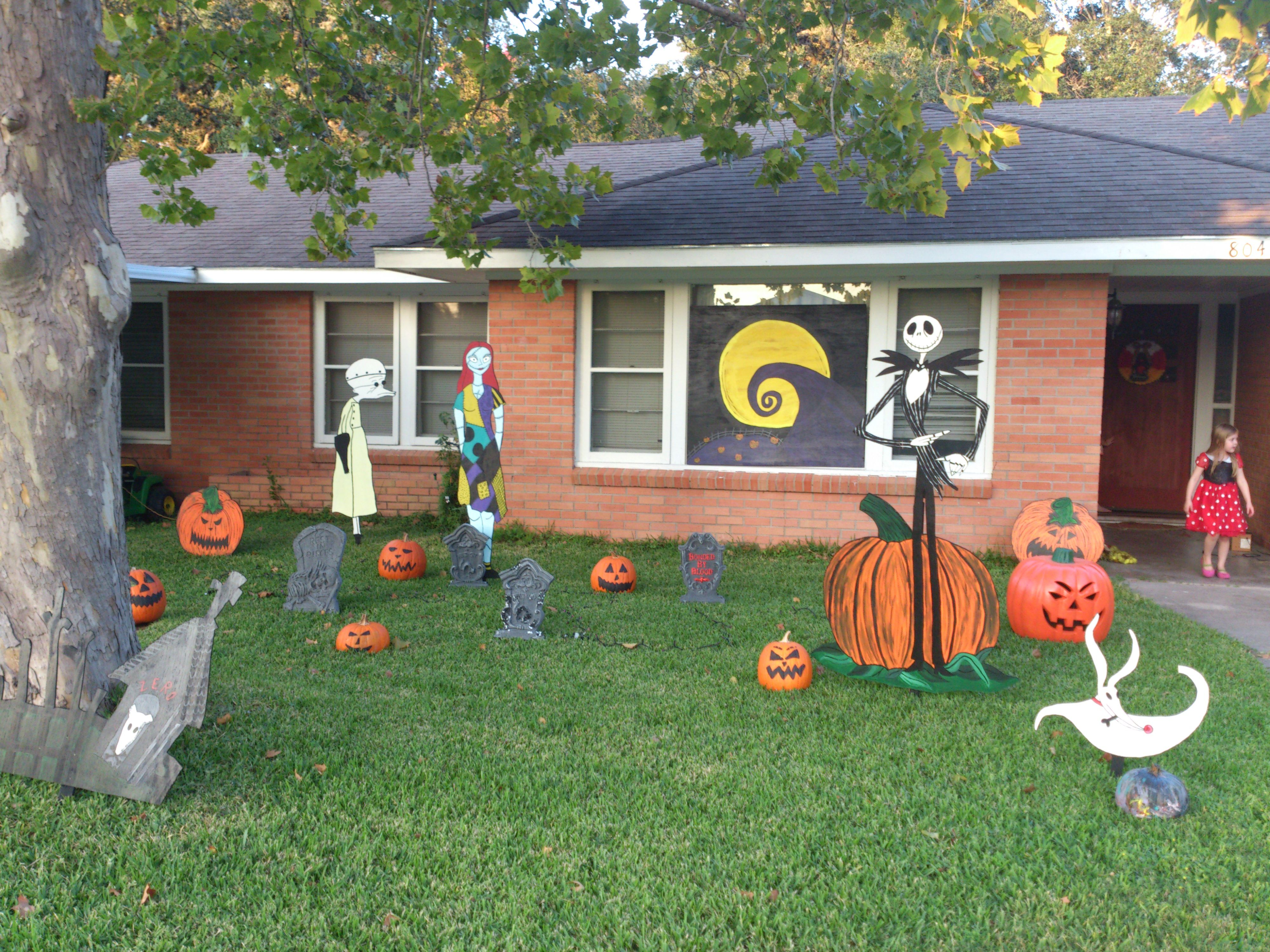 nightmare before christmas halloween yard art candaces yard art