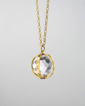 Monica Rich Kosann Extra Large 18k Gold Carpe Diem Pendant Necklace, 30L