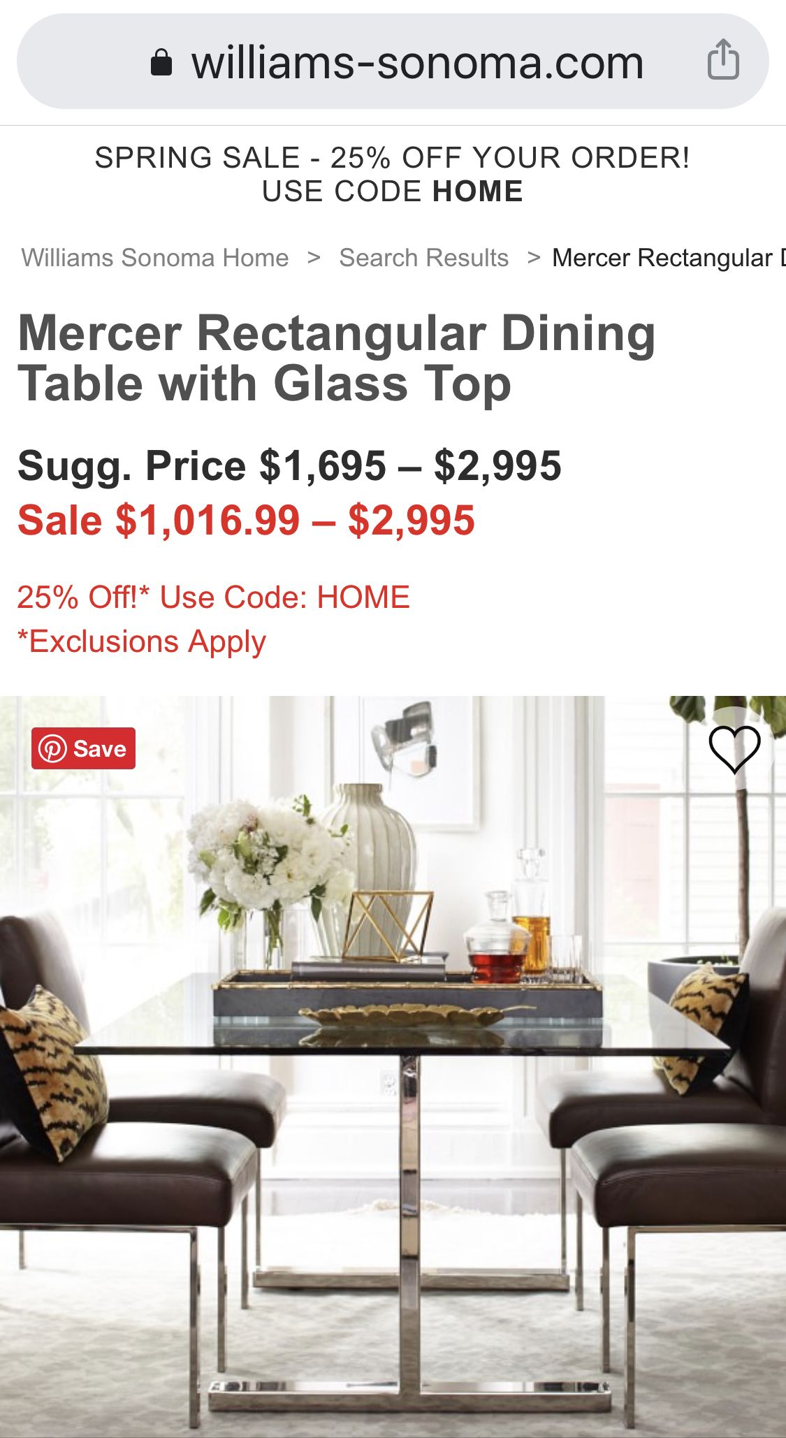 Mercer Rectangular Dining Table Rectangular Dining Table Table Dining Table