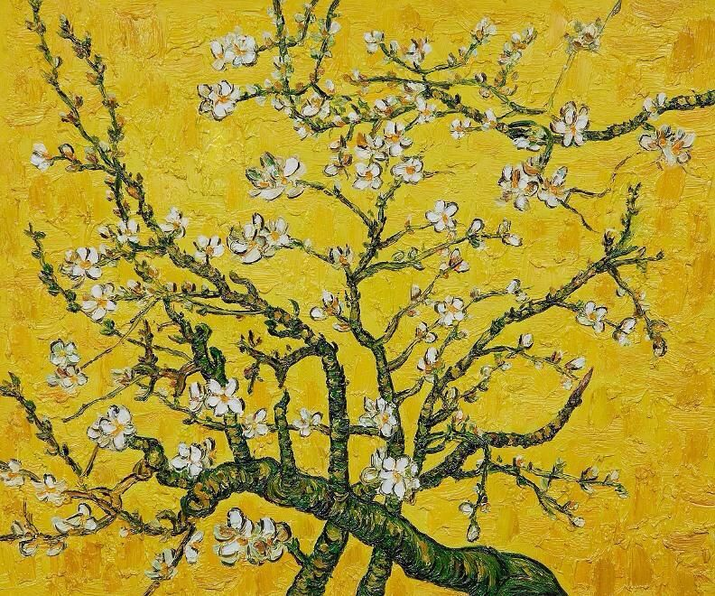 """""""branches of an almond tree in blossom"""" — vincent van gogh"""