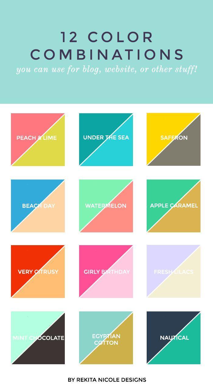 12 Color Combinations Skema Warna Inspirasi Warna Teori Warna