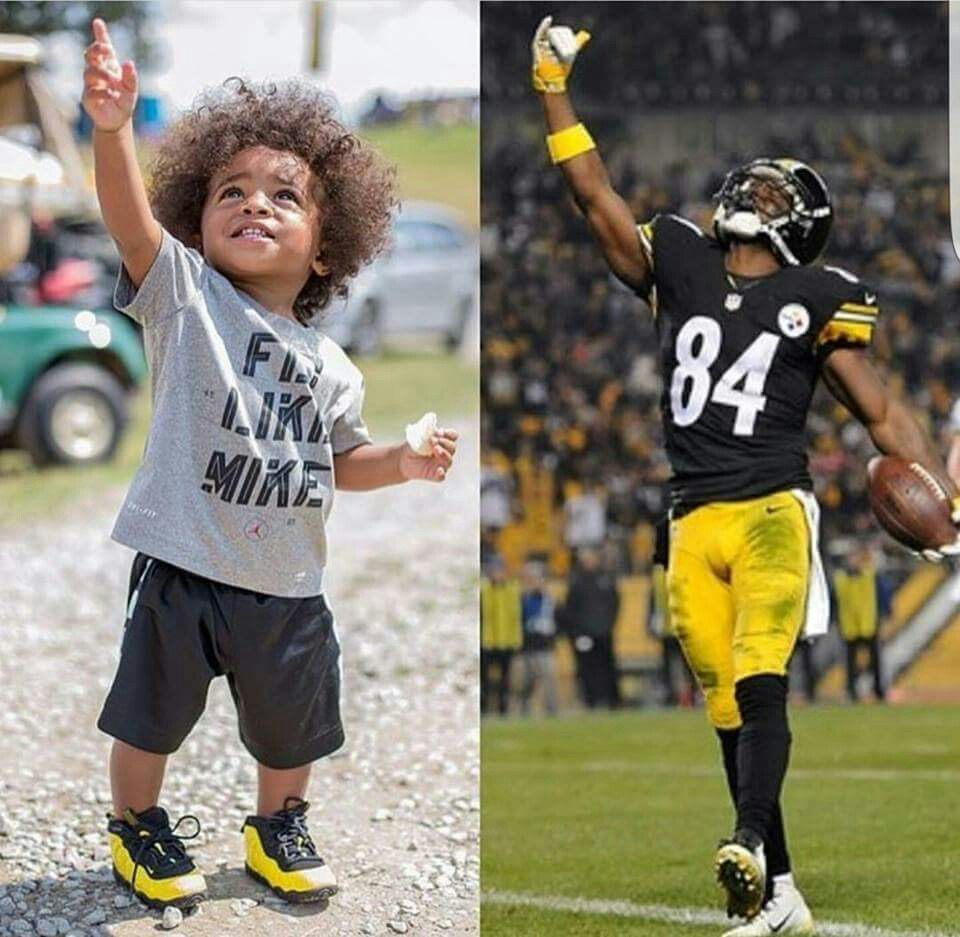 Antonio Brown Son >> Pittsburgh Steelers Ab And His Son Antonio Brown