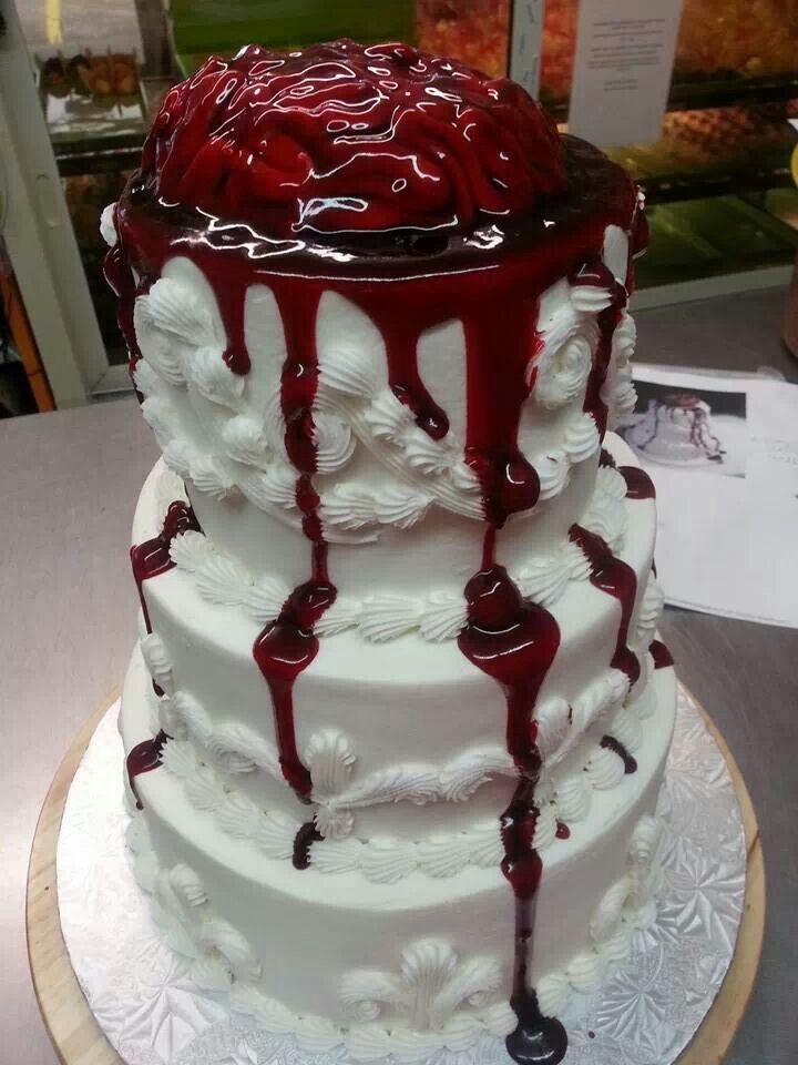 Zombie cake ideas for walking dead premiere Baby zombie cake
