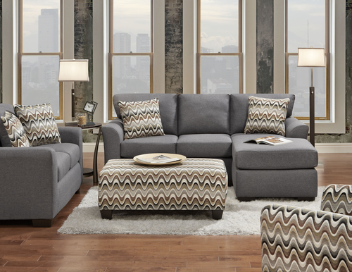 Affordable Furniture Cosmopolitan Grey Sectional Sofa Loveseat