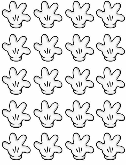 Mickey mouse hands or gloves templates dayly1st birthday mickey mouse hands or gloves templates pronofoot35fo Gallery