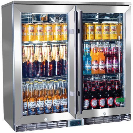 Rhino Glass 2 Door Energy Efficient Alfresco 208l Bar Fridge With