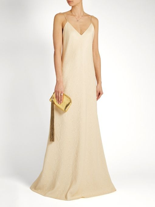 Vera silk-cloqué gown The Row Buy Cheap Purchase Natural And Freely Outlet Official Site PDEhm