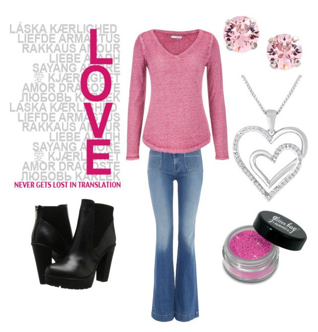 """""""My mom inspired look"""" by sara-ambrosini on Polyvore featuring Hudson Jeans, maurices, L. Erickson and Steve Madden"""