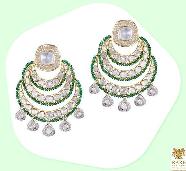 These #Ethereal pair of #Earrings are perfect to #MakeAStatement at any occasion  From the #Innayat collection by #RareHeritage #FineJewelry #Earrings #Chandbali #ChandbaliLove #EarringAddict #Jewelrygram #IndianJewelry #JewelryDesign #Earringstagram #EarringFashion #BridesOfIndia #IndianBrides #LOTD #Like4Like #JewelleryAddict #FashionAddict #IndianFashion