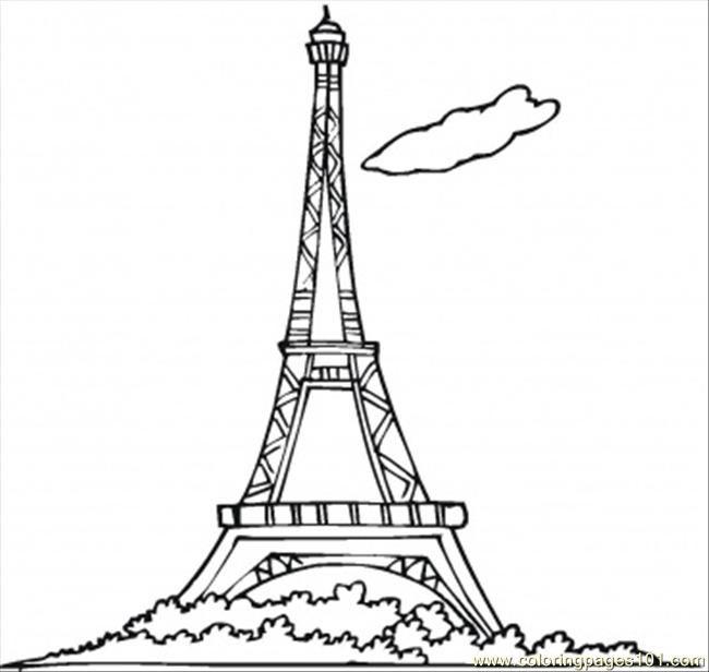 Bastille day - colouring | Bastille Day | Dibujos, Torre eiffel ...