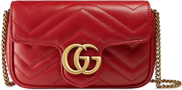 48d1c712f1e341 Love this pretty Gucci clutch! GG Marmont matelassé leather super mini bag