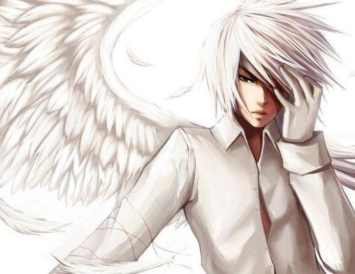 Anime Boy With White Hair Anime Guys Wolf Boy Anime Anime Angel