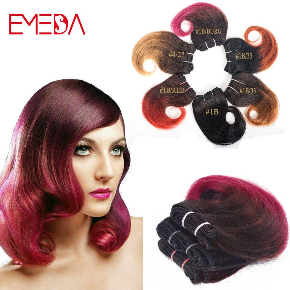 Quality Productsuper Sale Cheap Ombre Hair Bundles Short Wavy Human