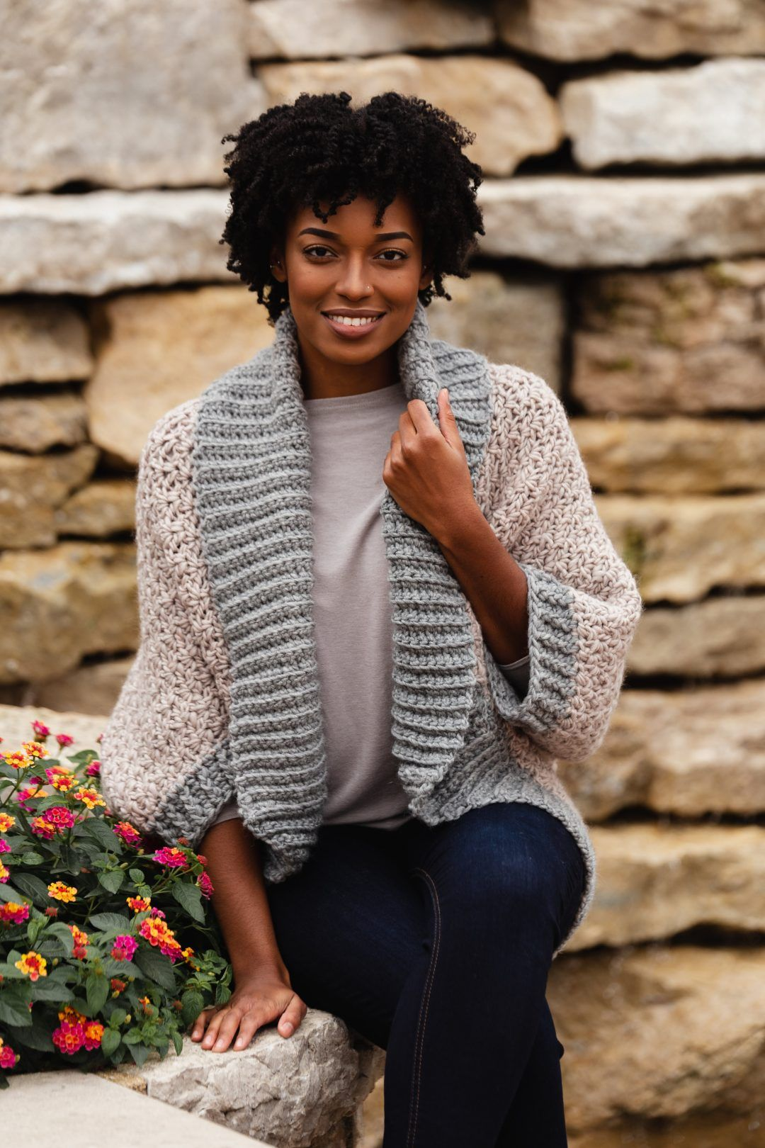 The Veronica Cocoon Cardi, an oversized blanket sweater #blanketsweater