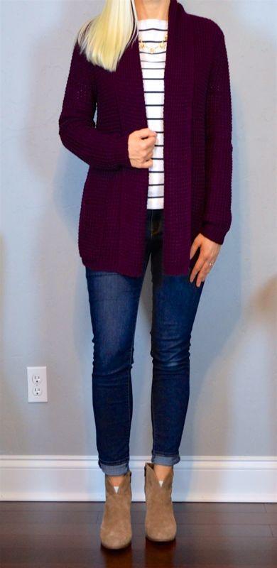b2bf4764e1e533a0423622bdae7f438e--burgundy-cardigan-outfit ...