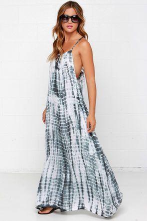 e3f7d5b18c32 Lunar Lattice Grey Tie-Dye Maxi Dress | Fashion | Tie dye maxi, Tie ...