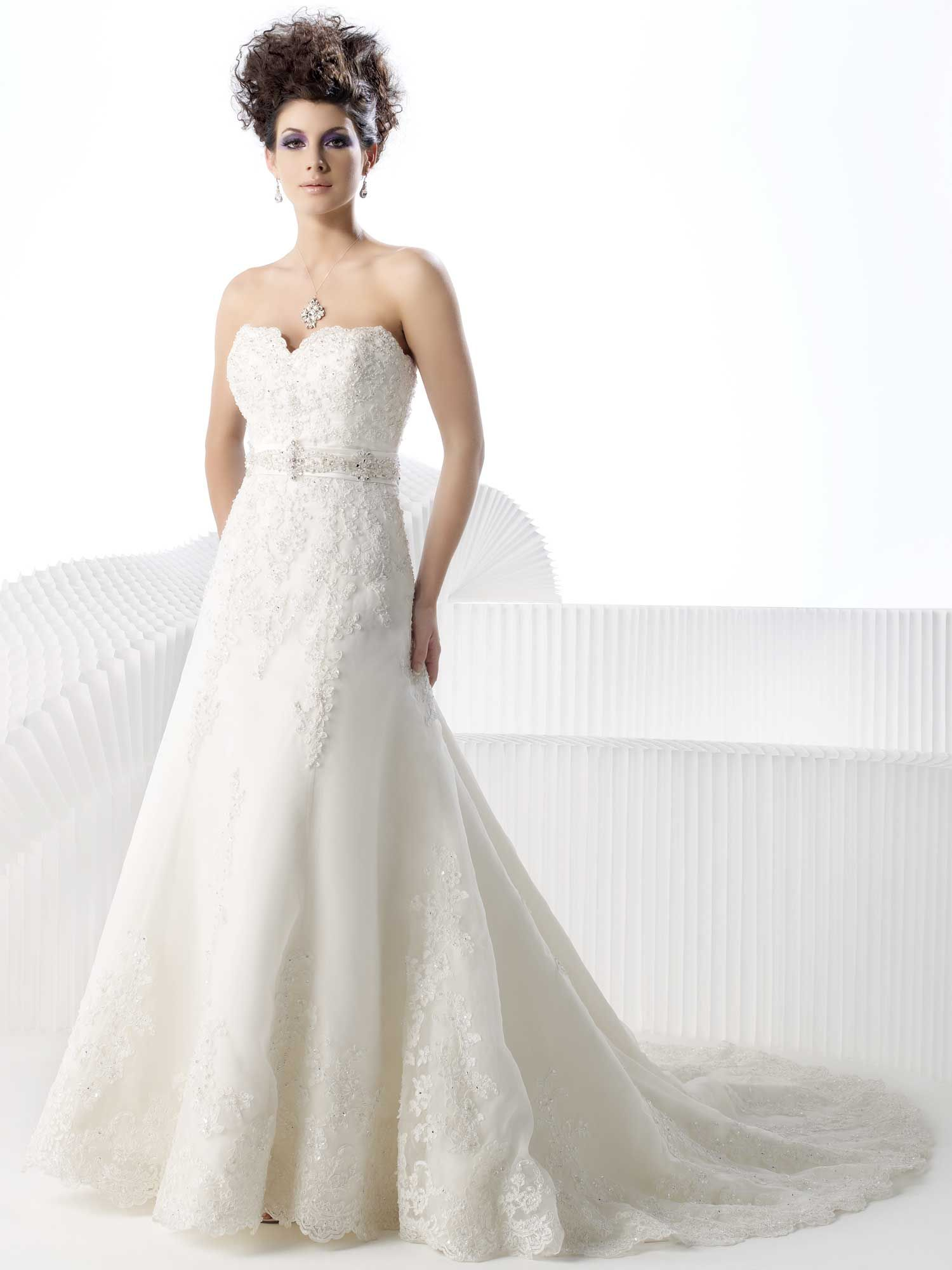 Scalloped neckline wedding gowns pinterest private label