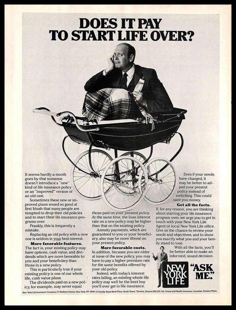 1983 new york life insurance company vintage print ad man